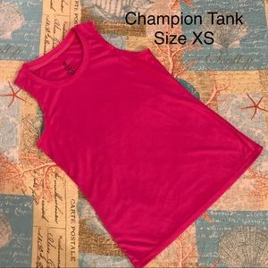 Champion Hot Pink Athletic Tank Top Size X-Small